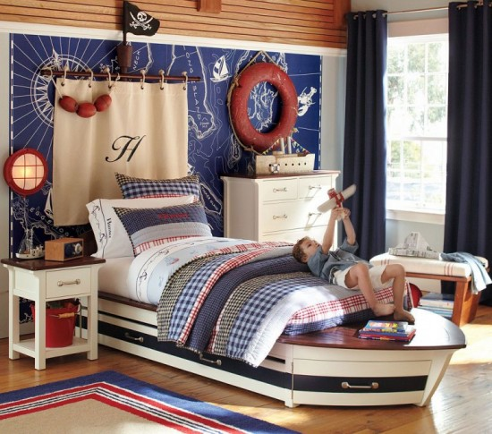Pottery-Barn-Kids-Bedroom-Design-Speedboat-II-Collection-1940s-classic-luxury-crafts-theme-775x684